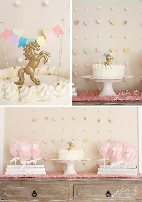 Unicorn Birthday Party Ideas - Unicorn Cake - JenTbyDesign.com