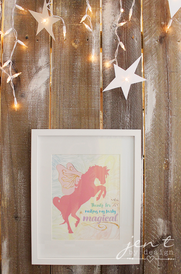 Unicorn Birthday Party Ideas - Unicorn Party Favor Sign - JenTbyDesign.com