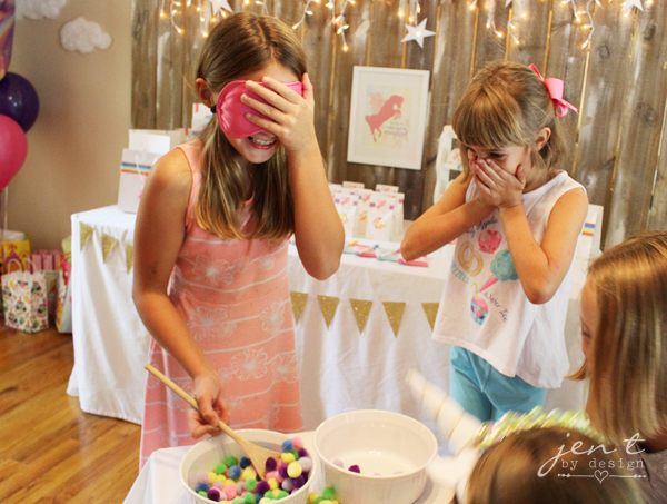 Unicorn Birthday Party Ideas - Rainbow Relay - JenTbyDesign.com