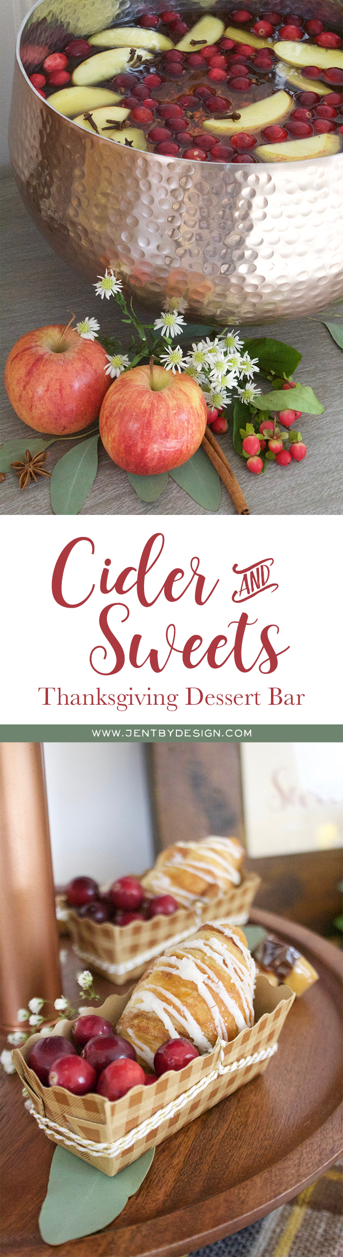 Cider and Sweets - Thanksgiving Dessert Bar