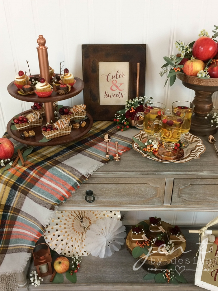 Cider and Sweets:  Thanksgiving Dessert Bar