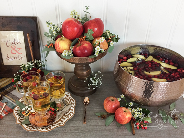 Cider and Sweets:  A Thanksgiving Dessert Bar