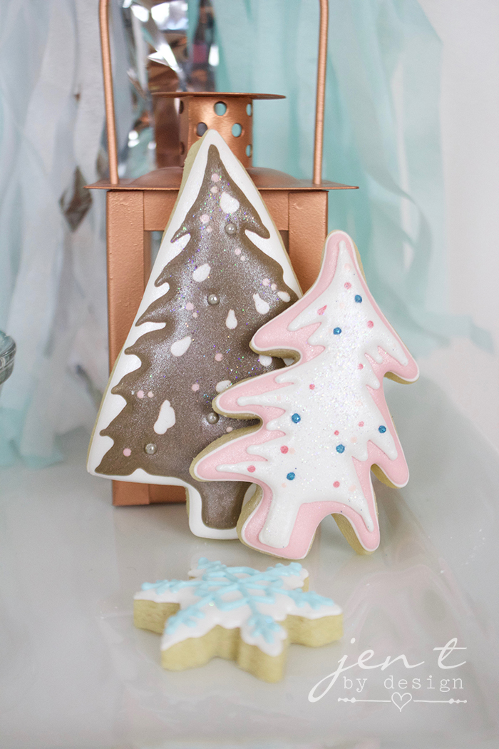 Cookies and Cocoa Gift Sets - Winter Wonderland Trees by Baby Gabey Cookies