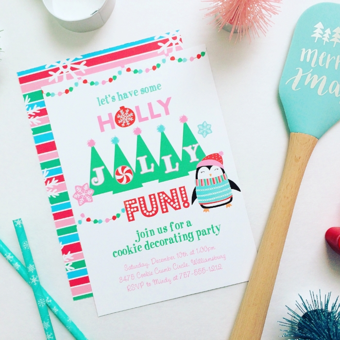 Holly Jolly Cookie Decorating Party Invitations - Jen T by Design