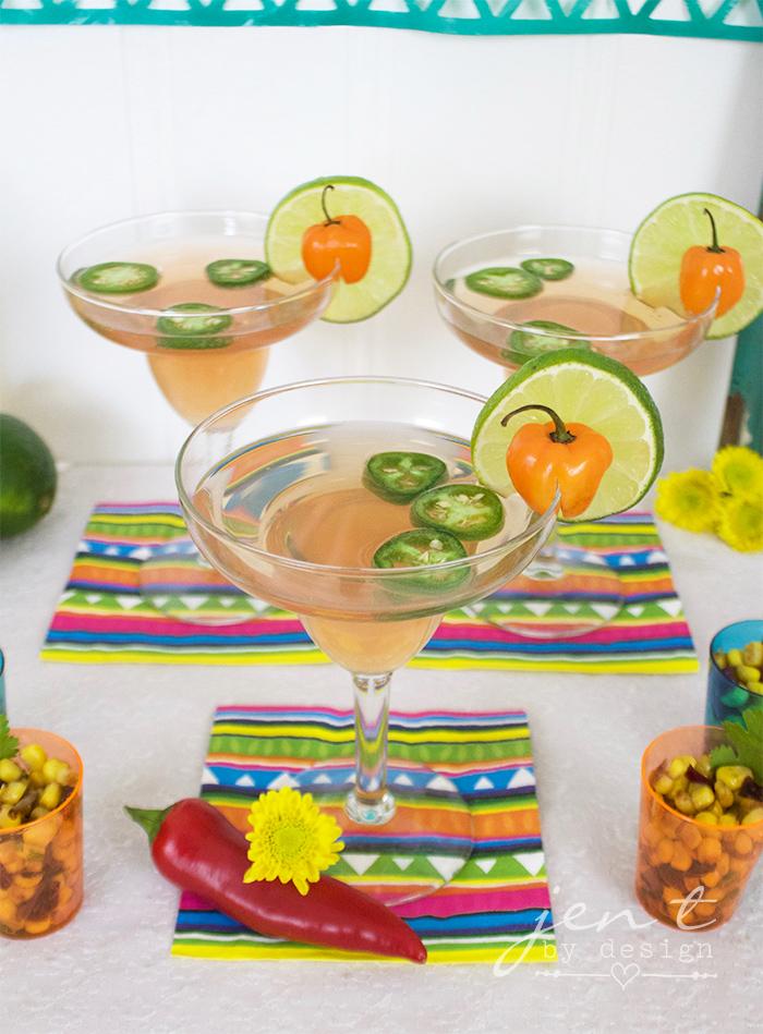 Margarita Fiesta - Spicy Grapefruit Margaritas - JenTbyDesign