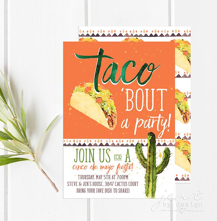 Cinco de Mayo Taco Party Invitation - Jen T by Design