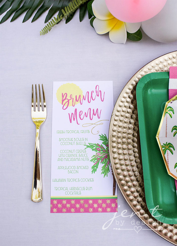 Tropical Bridal Shower - Palm Trees and Paradise Brunch