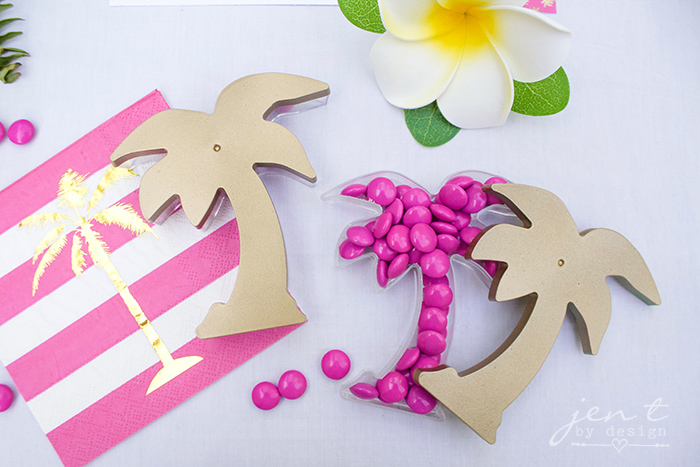 DIY Palm Tree Favors - Tropical Party Favors - JenTbyDesign.com