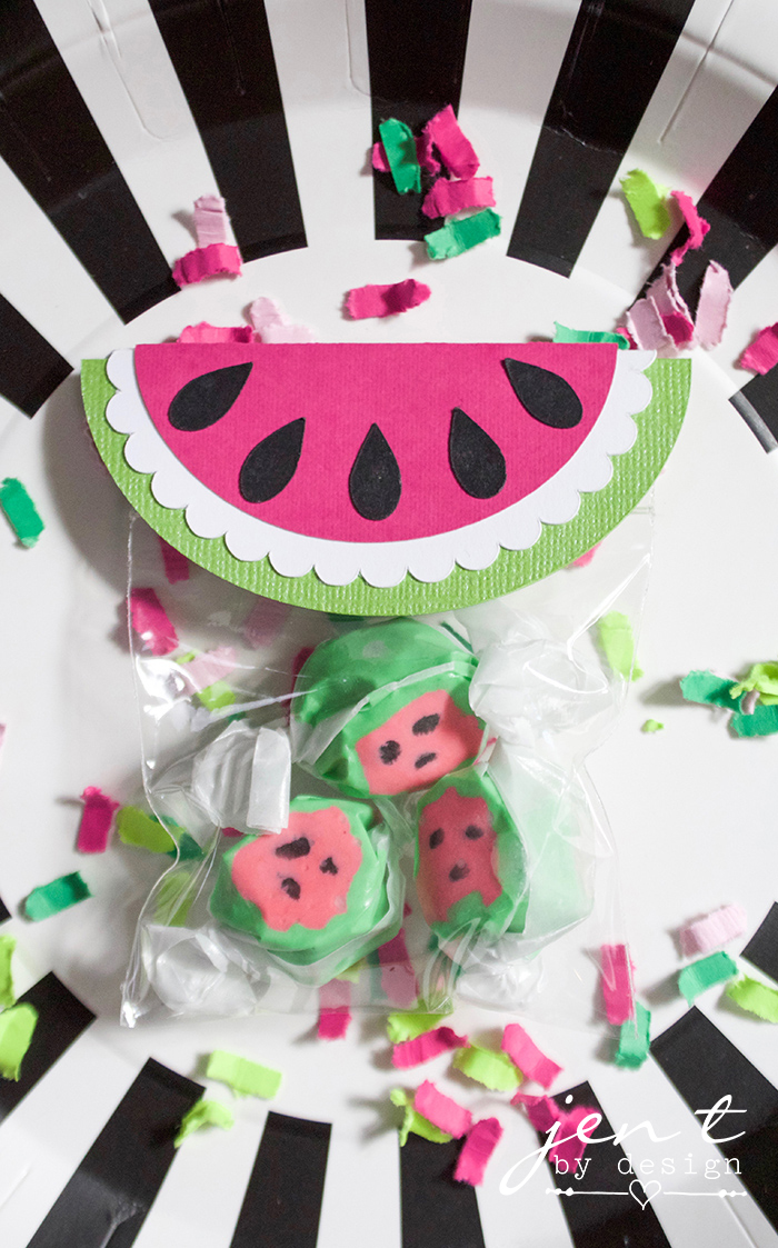 Watermelon First Birthday Party with Cricut - Watermelon Party Favors