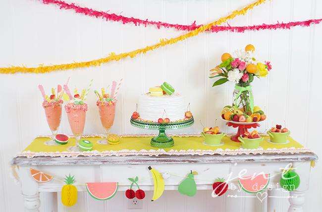 Tutti Frutti Party Ideas - JenTbyDesign.com