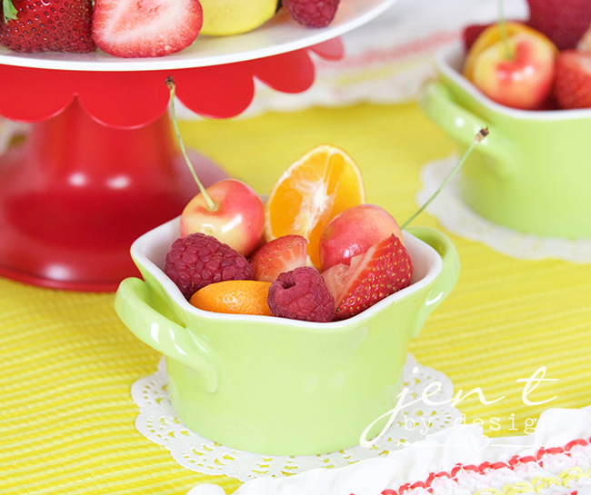 Tutti Frutti Party Ideas - Fresh Fruit Cups - JenTbyDesign.com