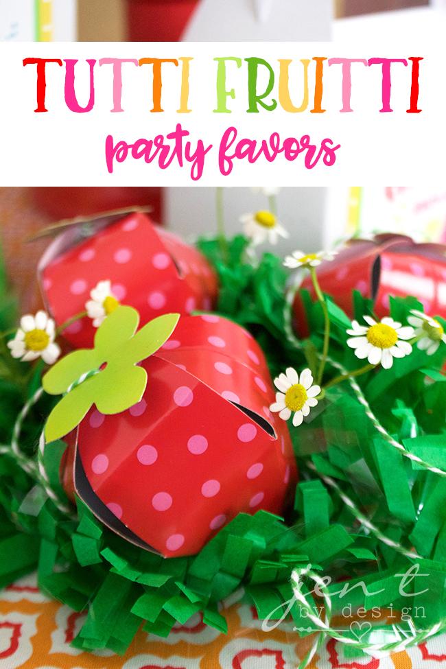 Strawberry Party Favors - Tutti Frutti Party Favors - Jen T by Design