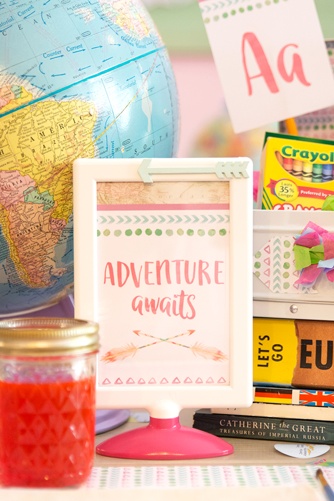 Adventure Awaits Back to School Party - Made of Sugar and Spice / Jen T by Design