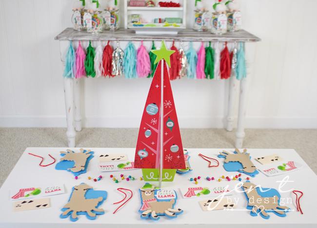 Kids Ornament Decorating Party - Llama Deck the Halls 6.jpg