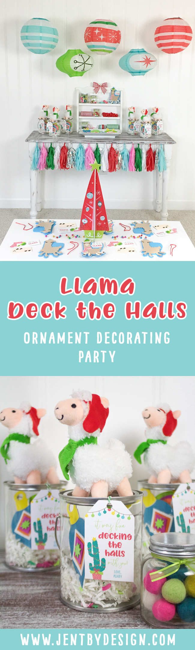 Kids Ornament Decorating Party - Llama Deck the Halls 1.jpg