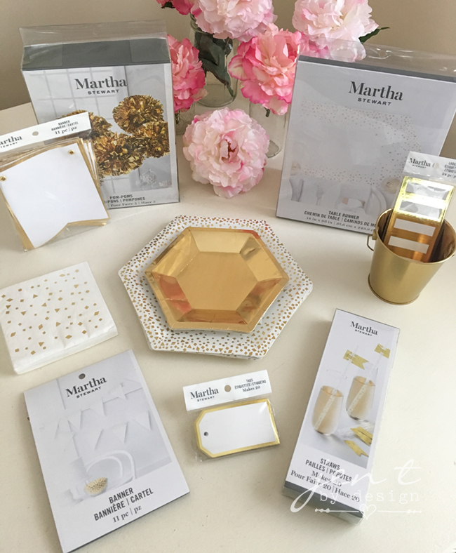 Martha Stewart Celebrations Exclusively at Michaels - Gold Collection - Jen T by Design #ad, #CricutMarthaStewart, #MadeWithMichaels #CricutMade #Cricut