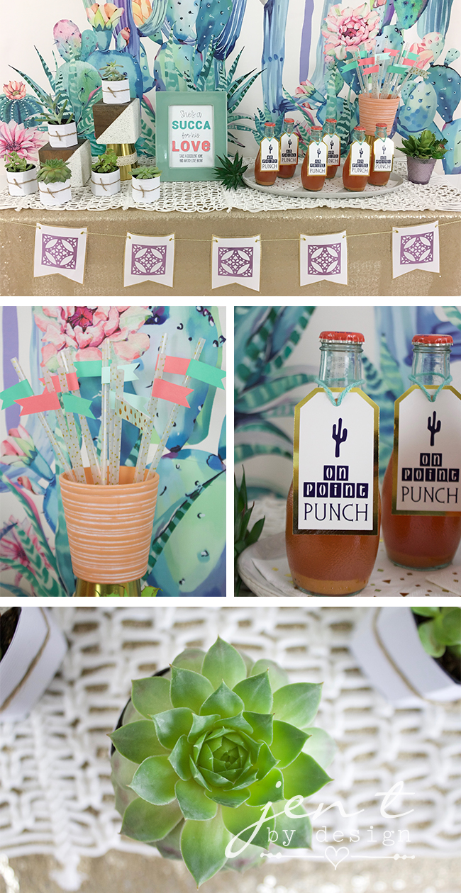 Succulent Bridal Shower Ideas Jen T By Design