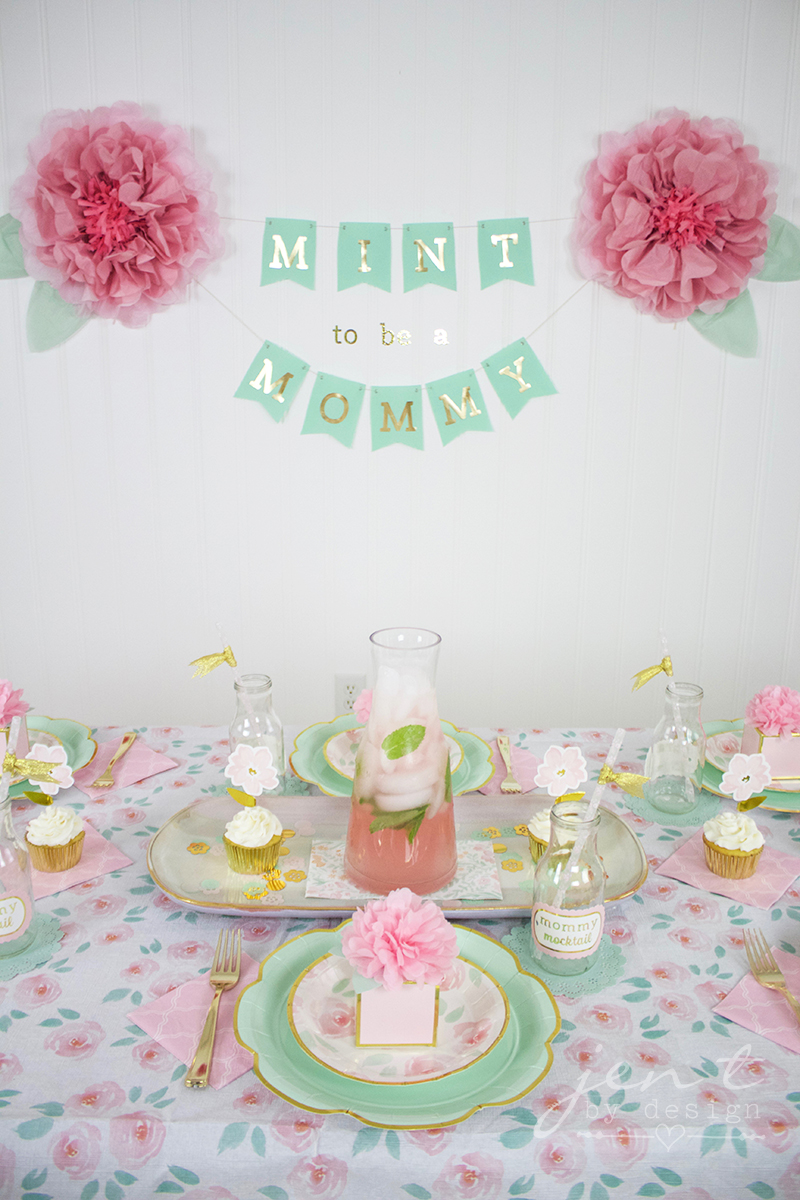 Mint to Be Baby Shower