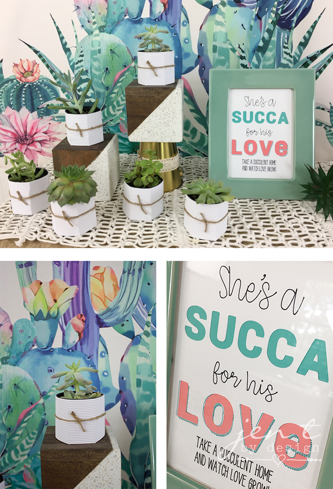 She's a SUCCA for Him Bridal Shower