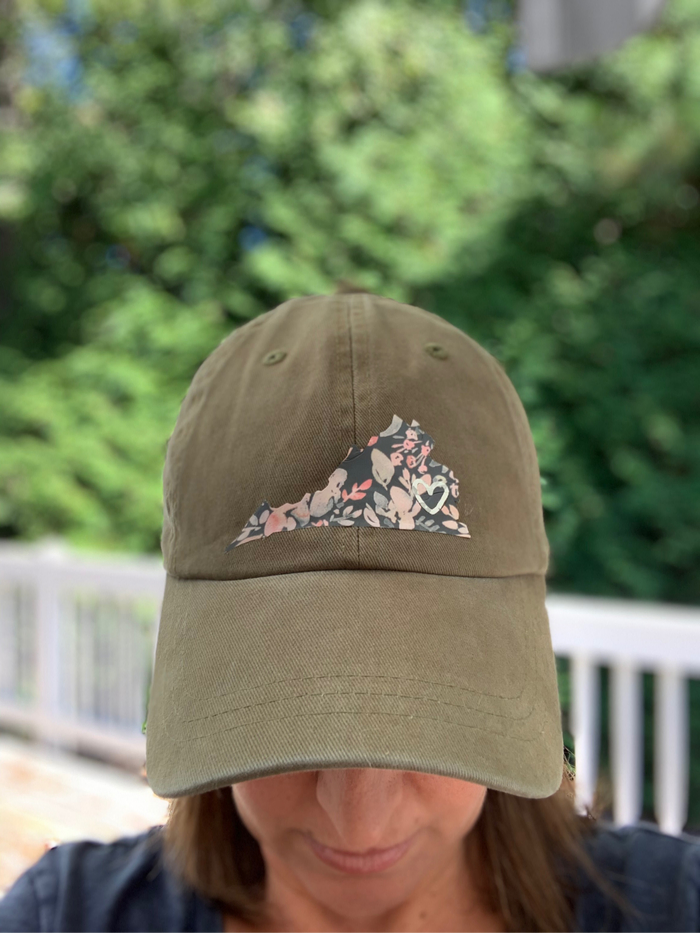 State Pride Hat Using the Cricut EasyPress Mini #cricutcreated #cricut #ad