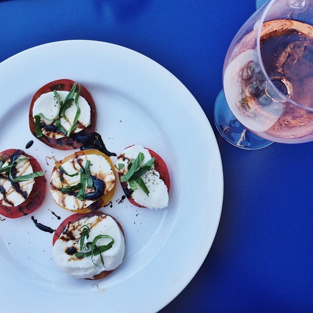 radici heirloom tomato caprese