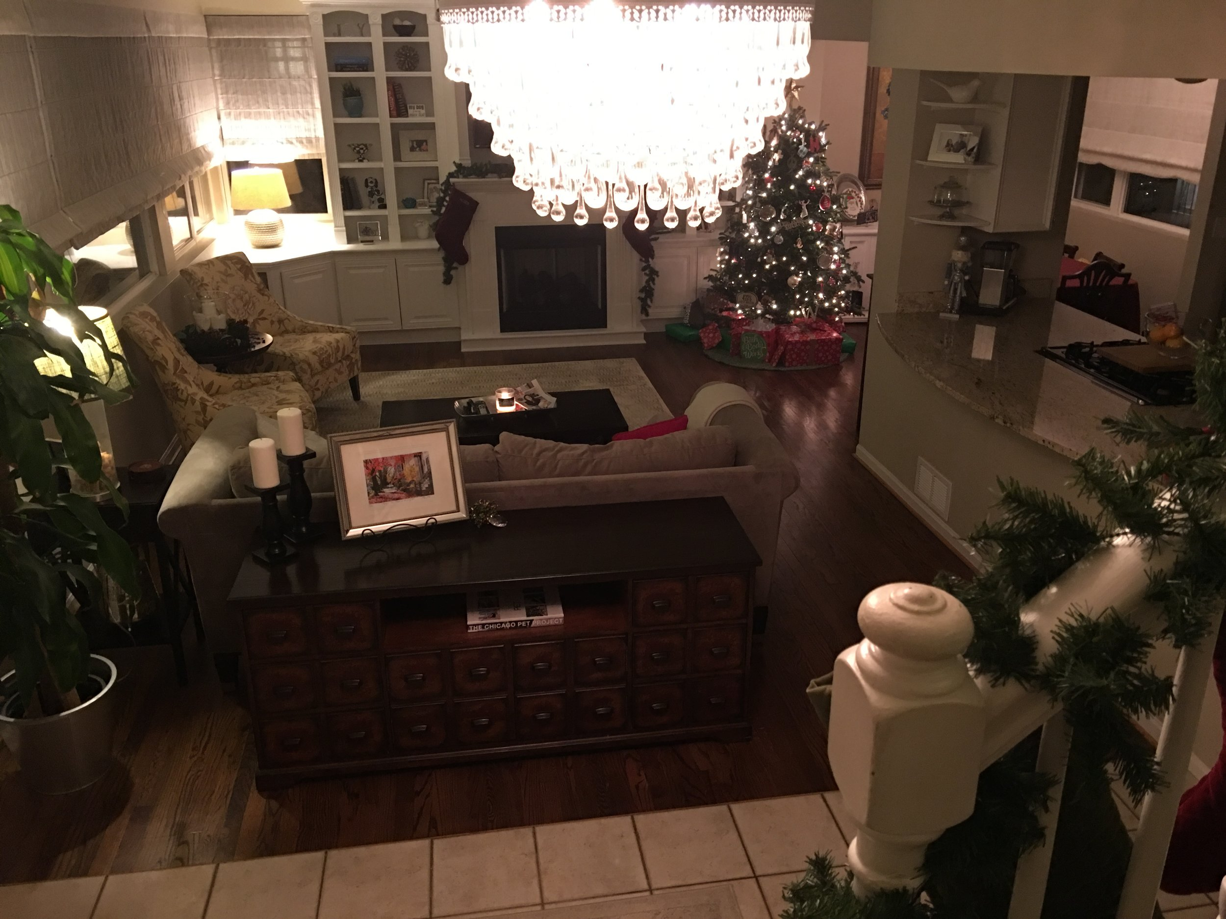 Our main room decorated for the holidays!