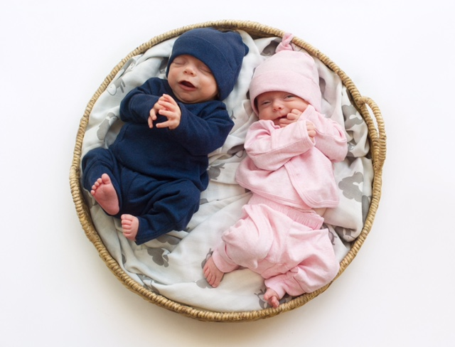 Meet my twins: Marlowe and Acher (PHOTO CREDIT: Simply Suzy)