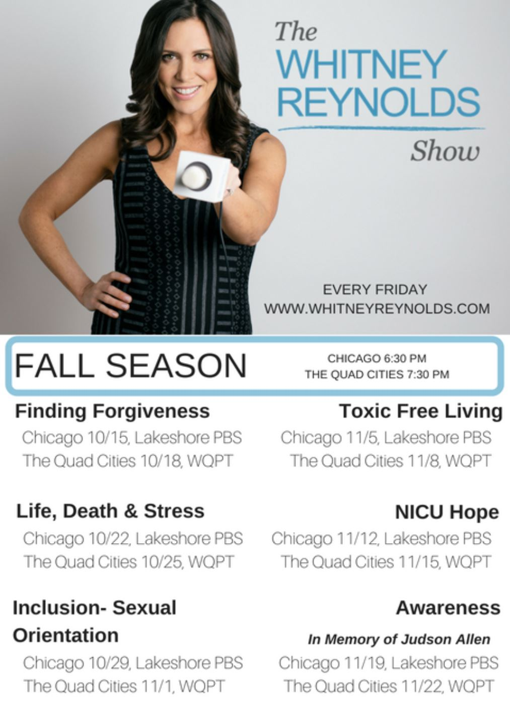 the whitney reynolds show fall shows