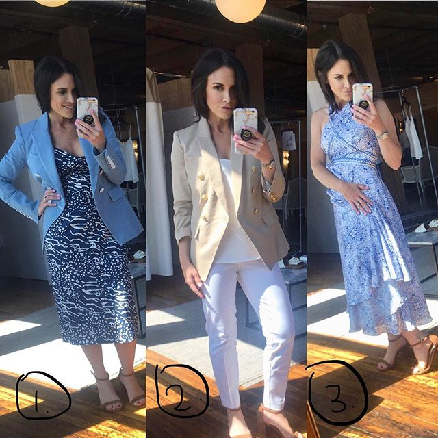 Help a sister out!! Rocking the runway this week for @dressforsuccess 💃🏻1, 2 or 3?!! YOU PICK 👆
