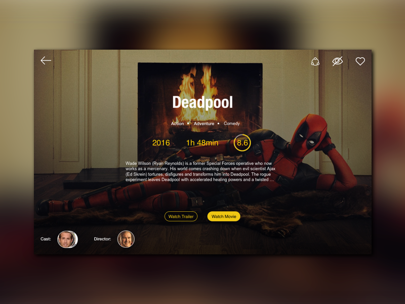 Movie streaming concept Design: Sketch