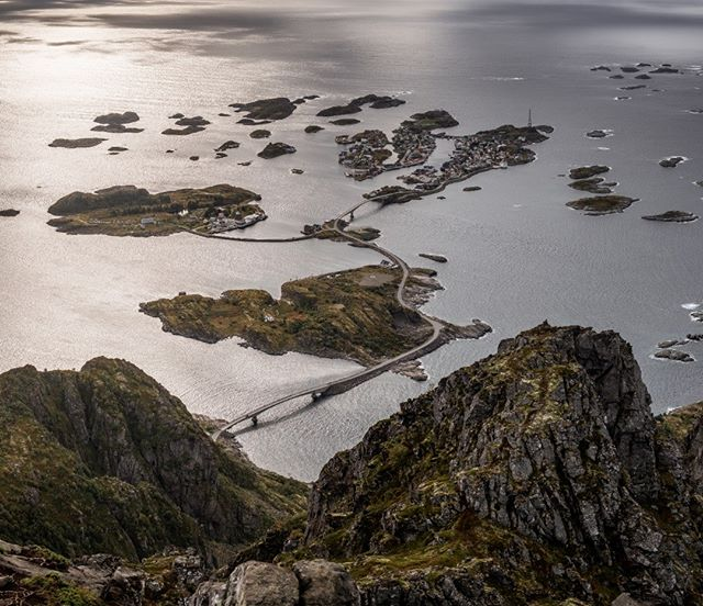 View from the top of Festvagtind . Xt2 + XF18-55 . #lofoten #mountains #travelphotography #wanderlust #hiking #road #roadtrip  #landscape_lovers #photographer #discoverearth #mountain #nature #landscapephotography #landscape #sunset #norway #unlimitedscandinavia #visitnorway #raw_nordic #nordicscollective
