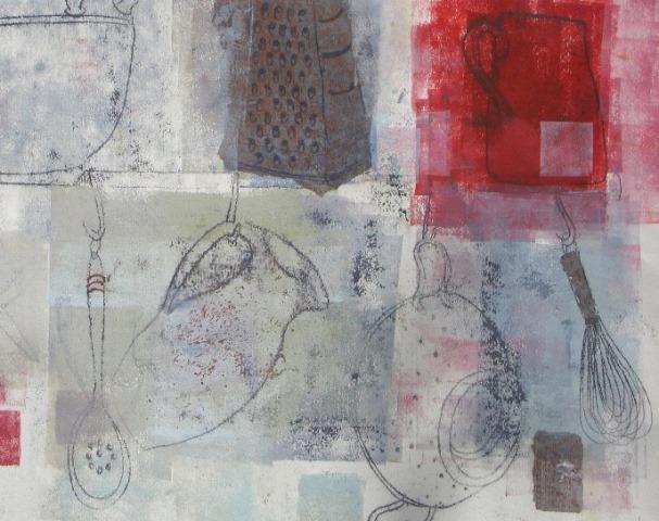 The Red Jug , mixed media, 2010