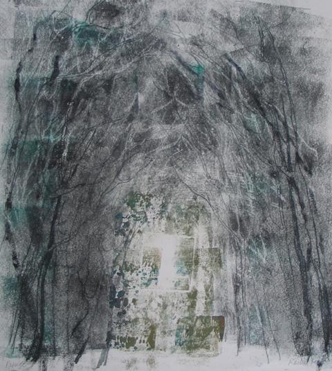 Refuge , unique monotype, 2010