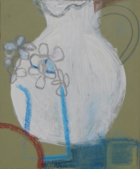 Studio Jug (Porthmeor) , acrylic and watercolour on board, 2013