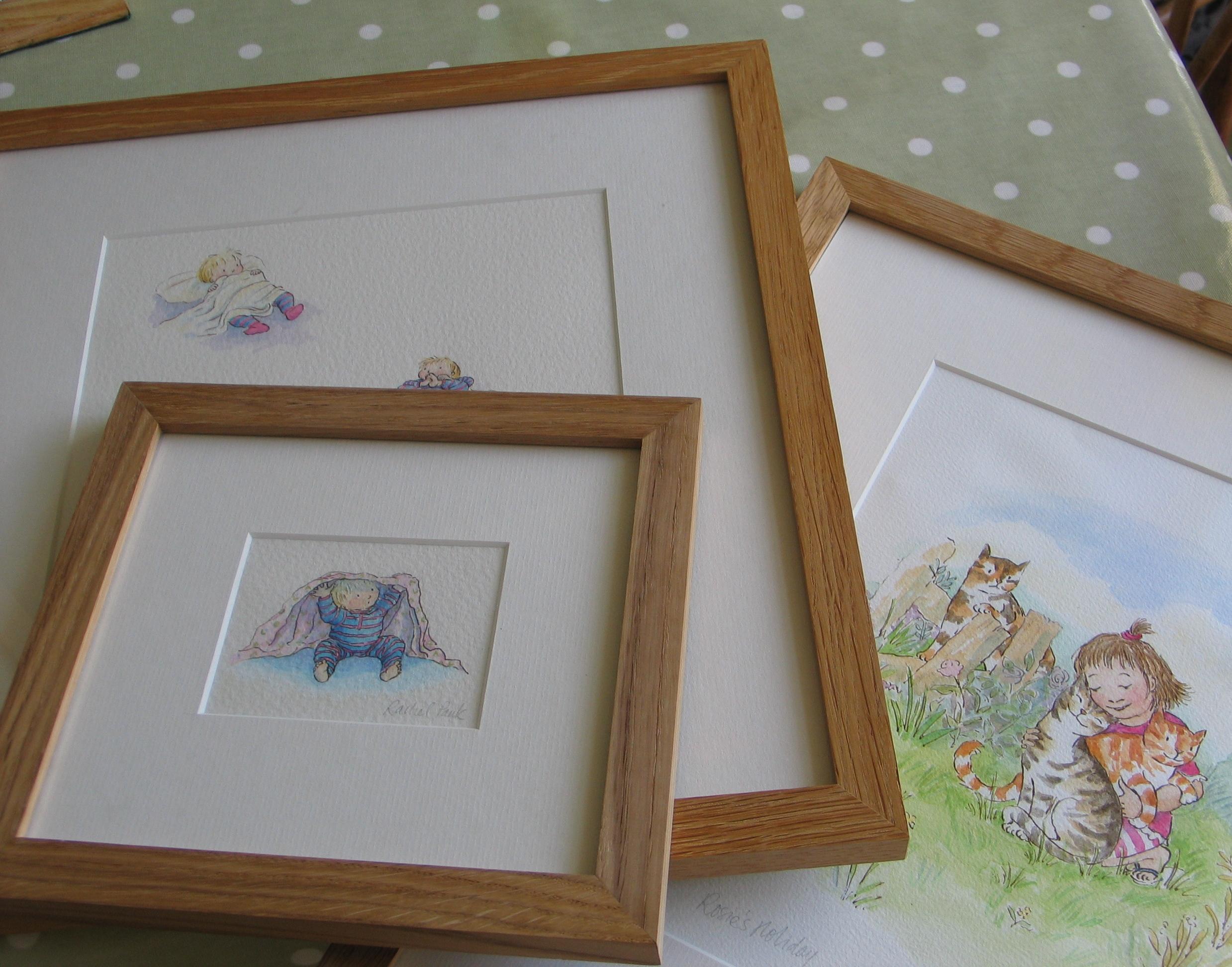 Framed book illustrations. Rachel Pank.JPG