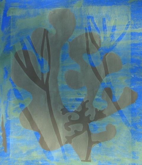 Seaweed form lll , unique silkscreen 2012