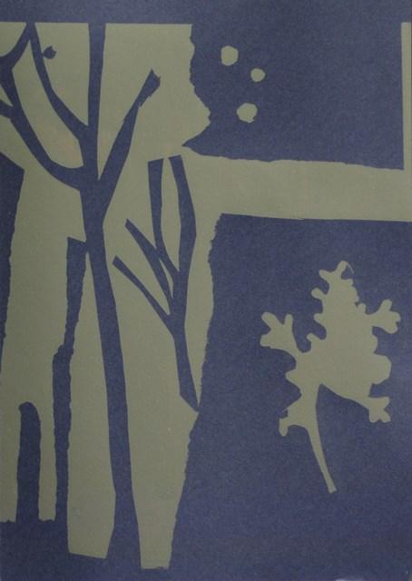 Seaweed form ll , unique silkscreen, 2012
