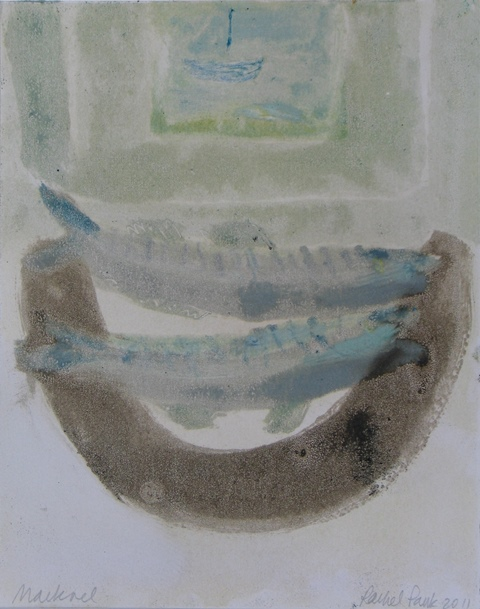 Mackerel, Penzance,  unique monotype, 2011