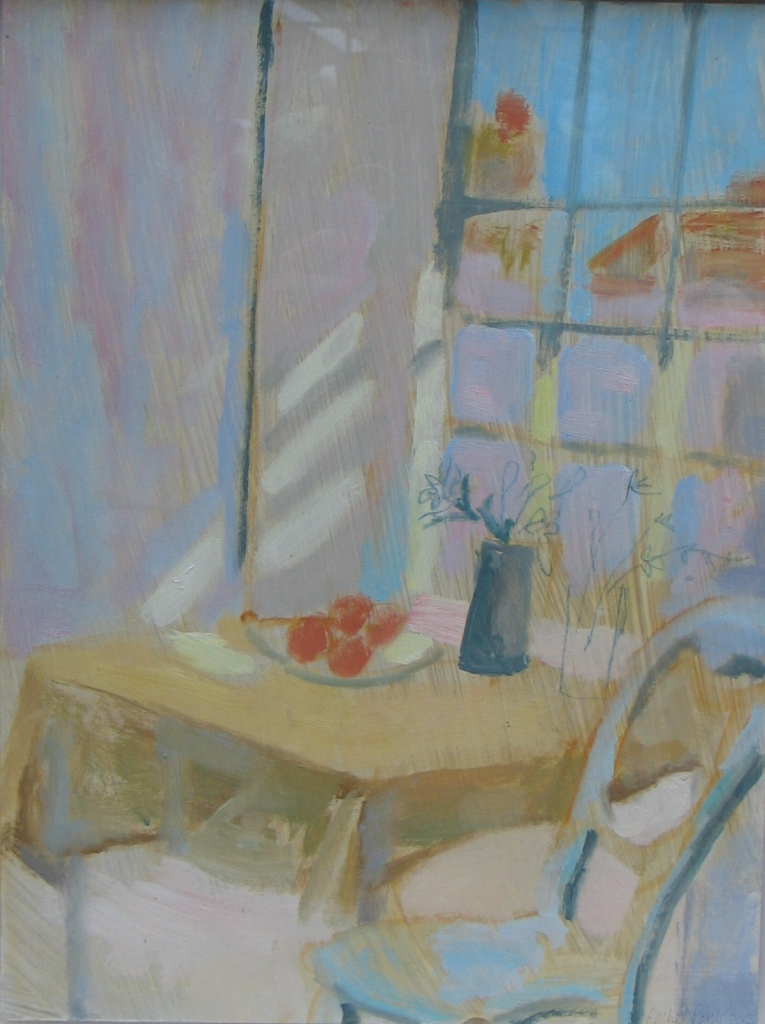Sunlit Window (Porthmeor studio) St Ives  2012, oil on board copy