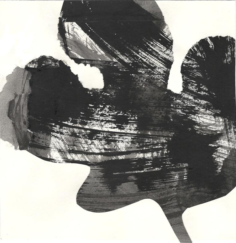 Leaf form, Indian ink, 2012