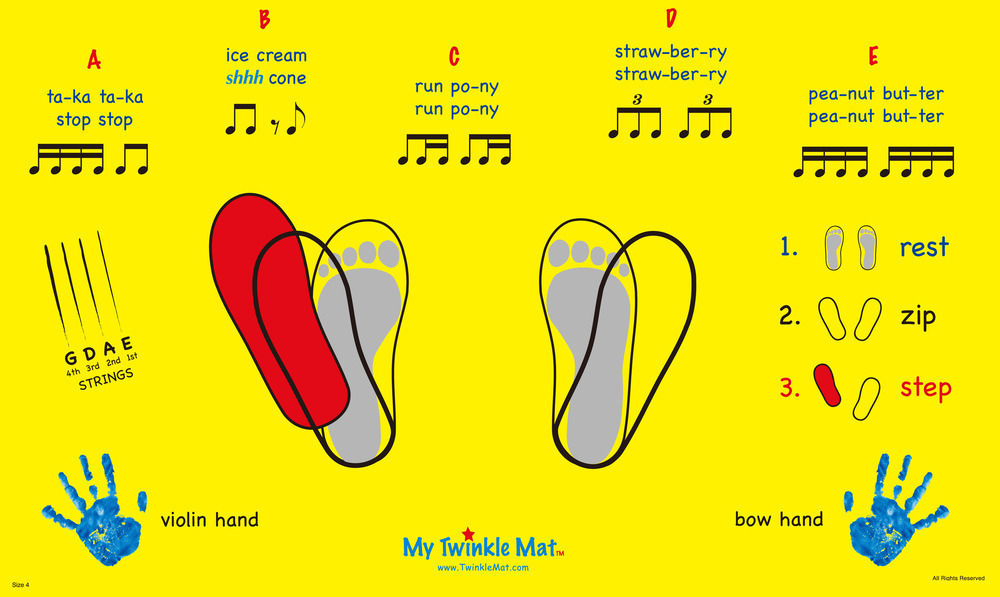 """This is a perfect example of learning """"proper"""" violin stance. Start with the feet together, then turn the feet out (externally rotating hopefully from the hip, hopefully) and then step the left foot forward."""