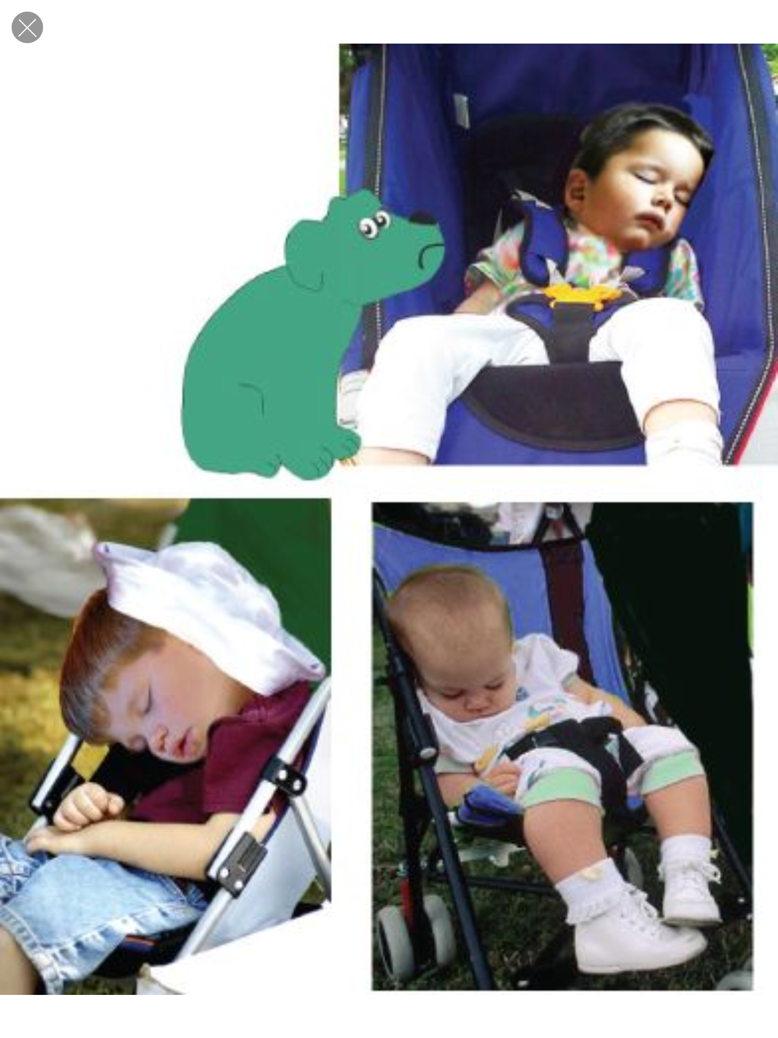 "Notice how strollers affect kids' alignment from a young age?  Photo from ""Happy Dog, Sad Dog."""