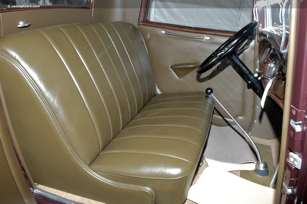 1930's interior-not too sloped back yet.