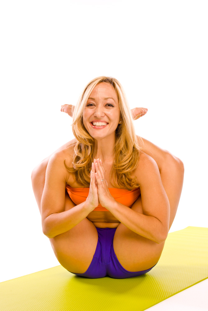 Kino McGregor is a famous (and pretty darn flexible) ashtanga teacher. I have ZERO interest in getting here, nor is that really even on the radar for me. If you can do it, great, if not, you can still live a happy yoga life without it.