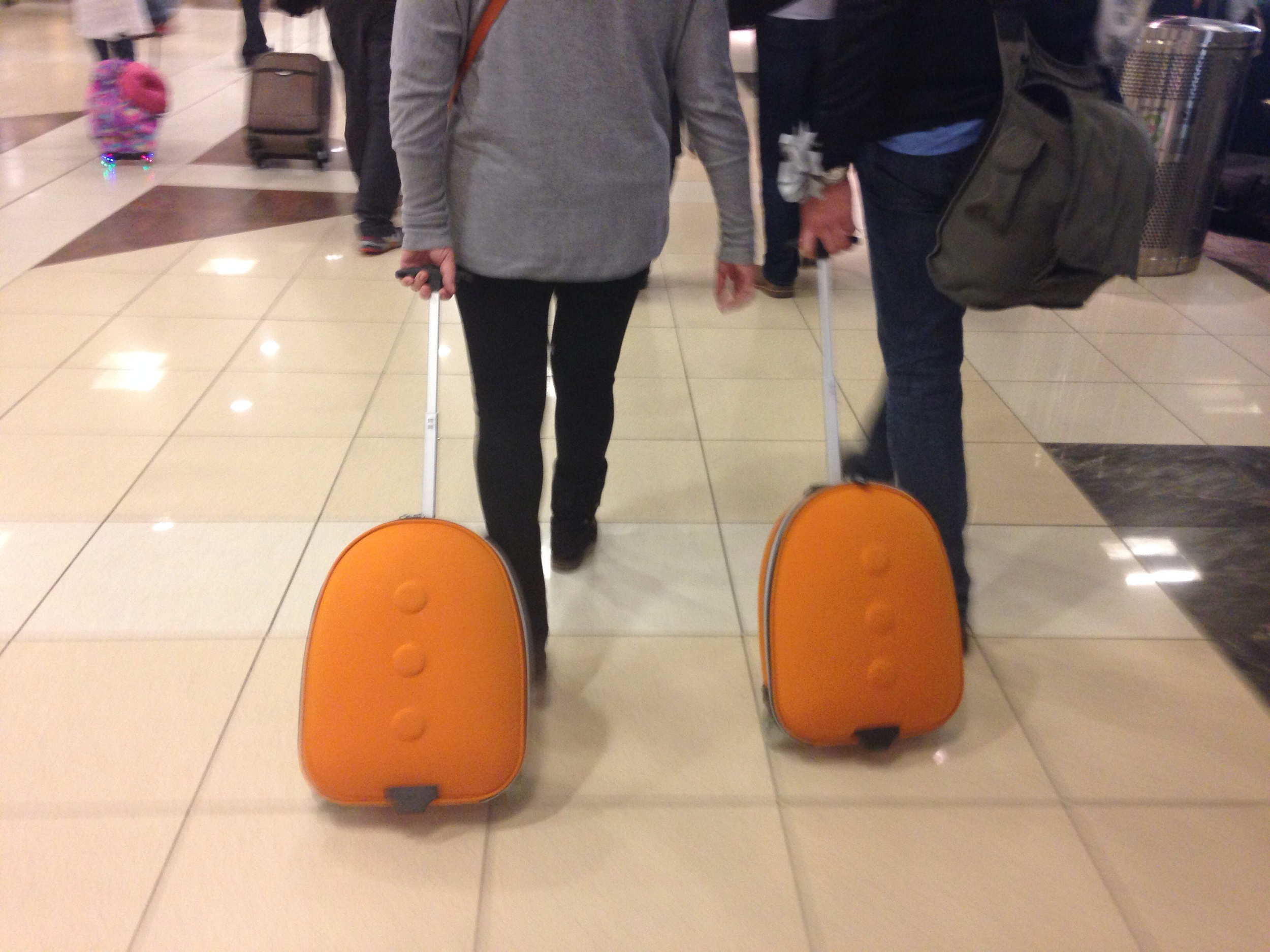 Image of matching suitcase people courtesy of me, following people in the airport.