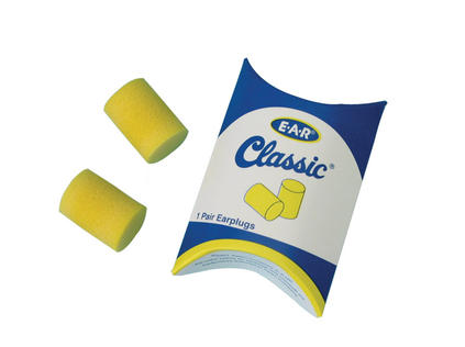 Most professional orchestras will at least have these cheap foam earplugs, in order to comply with OSHA (occupational safety and hazard administration).