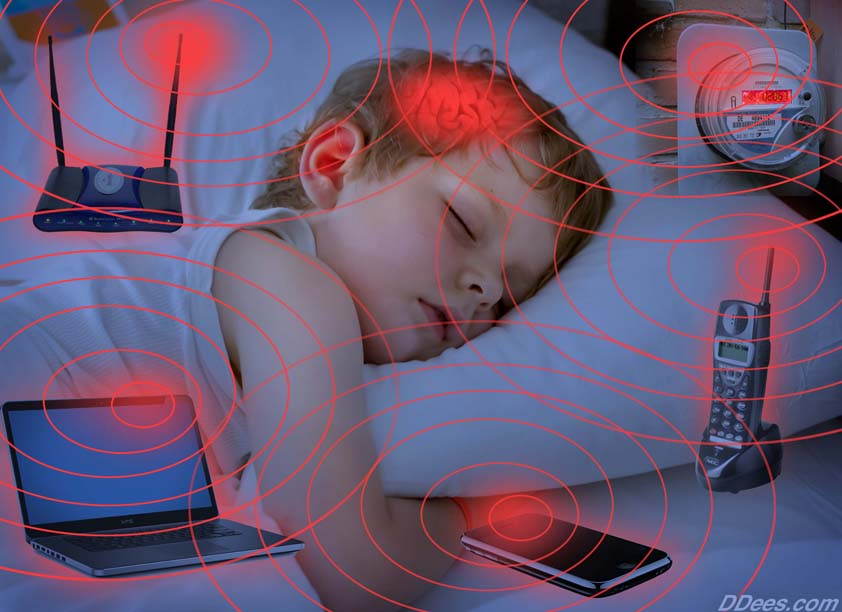 We don't know the long term effects of radiation, wifi, and other technological signals on the brain and sleep. Consider airplane mode, turning things off, and keeping them away from bed!