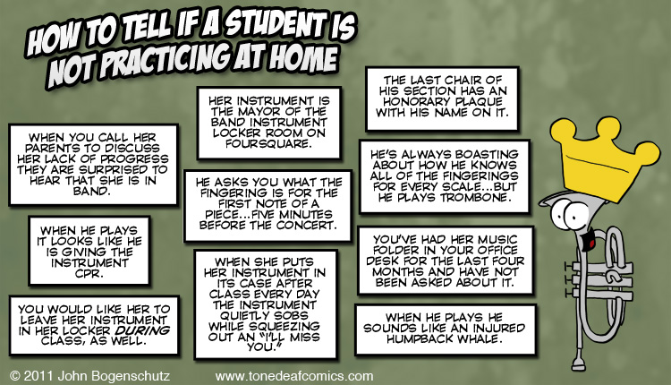 Although this is specific to band, I've definitely had students that fit the bill.