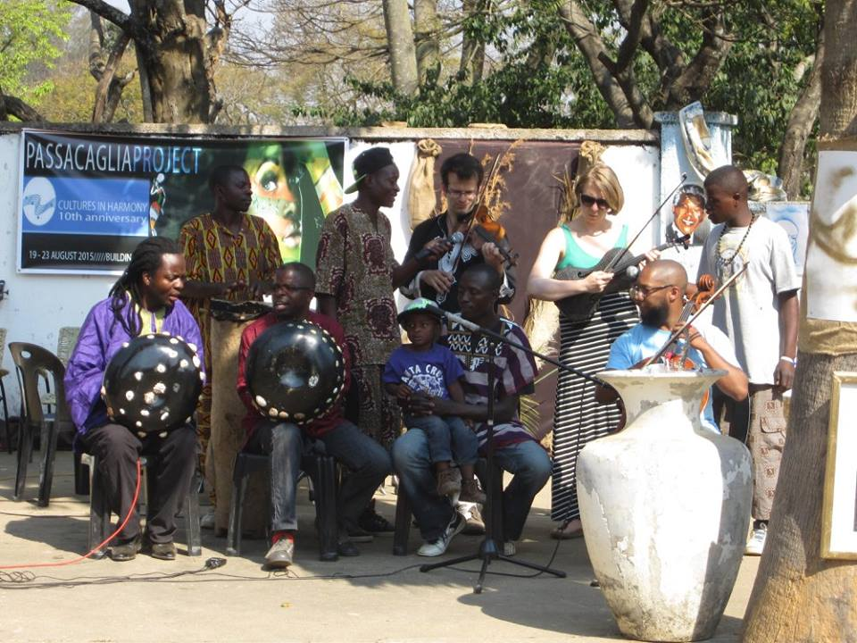 Collaboration and performance with the Zimbabwean group Mhofelas.