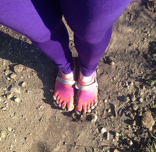 Neon pink vibrams are optional.  Natural terrain walking for the win!